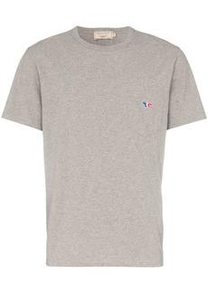 Maison Kitsuné grey short sleeved fox pocket T-shirt