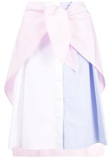 Maison Kitsuné knotted shirt midi dress