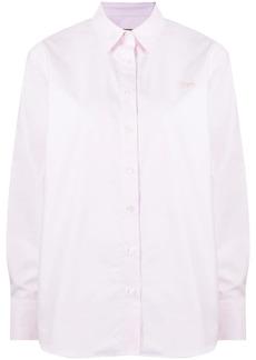 Maison Kitsuné logo-embroidered long-sleeve cotton shirt