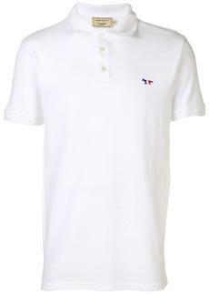 Maison Kitsuné logo embroidered polo shirt