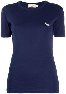 Maison Kitsuné logo embroidered slim fit T-shirt
