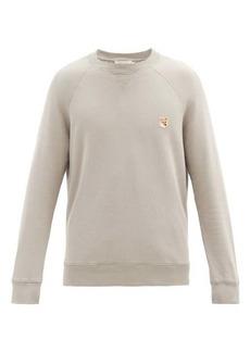 Maison Kitsuné Fox-Head patch cotton sweatshirt