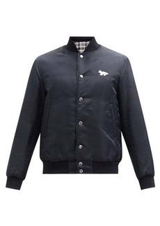 Maison Kitsuné Fox-patch reversible bomber jacket