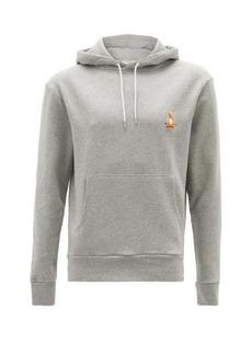 Maison Kitsuné Lotus Fox-patch cotton-jersey hooded sweatshirt