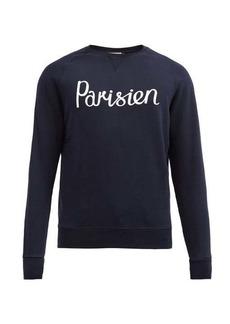 Maison Kitsuné Parisien-print cotton sweatshirt