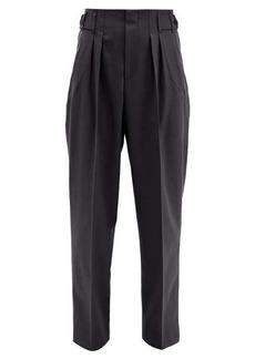 Maison Kitsuné Pleated twill wide-leg trousers
