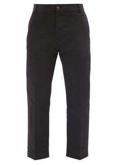 Maison Kitsuné Slim-leg cotton-twill trousers