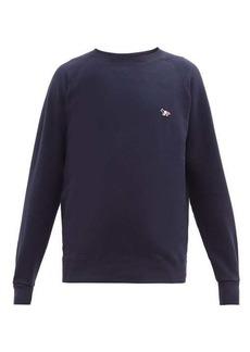 Maison Kitsuné Tricolour Fox-appliqué cotton sweatshirt
