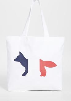Maison Kitsuné Maison Kitsune Tri-color Fox Tote Bag