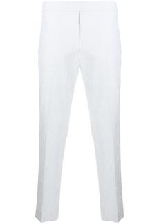 Maison Kitsuné textured-finish cropped trousers