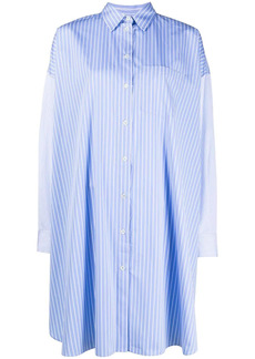 Maison Kitsuné striped cotton shirt dress