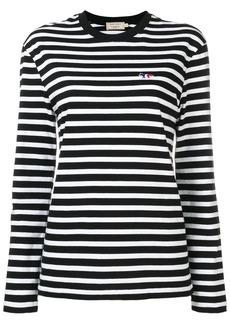 Maison Kitsuné striped longsleeved T-shirt