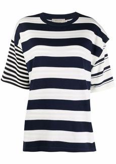 Maison Kitsuné wollen striped T-shirt