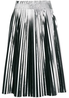Maison Margiela pleated metallic skirt