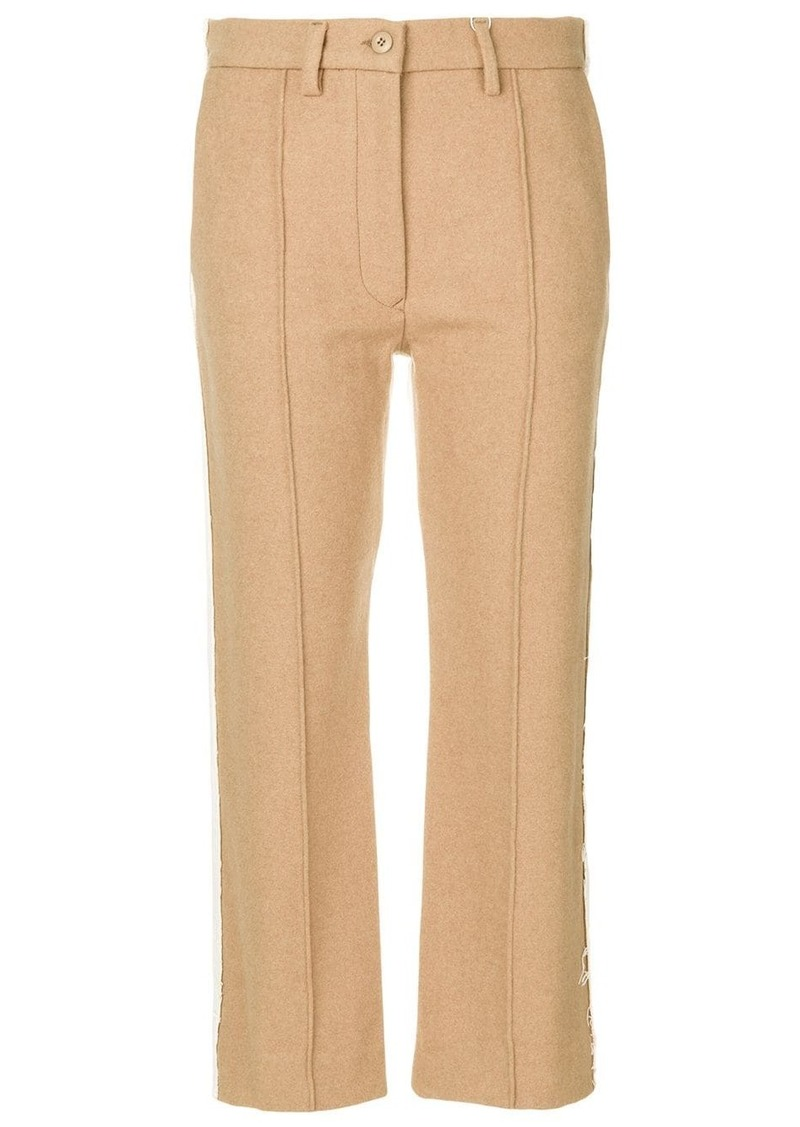 Maison Margiela contrast panel cropped trousers