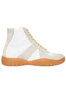 Maison Margiela 20mm Tabi Leather & Suede Sneakers