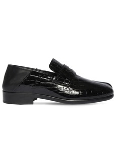 Maison Margiela 30mm Croc Embossed Leather Tabi Loafers