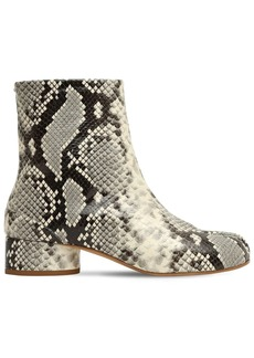 Maison Margiela 30mm Tabi Python Print Leather Boots