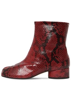 Maison Margiela 30mm Tabi Python Print Leather Boots