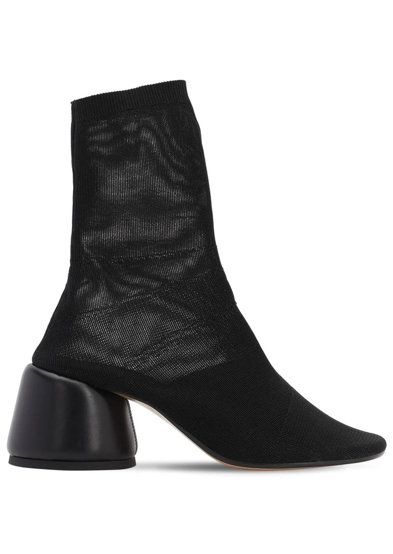 Maison Margiela 65mm Mesh Sock Ankle Boots