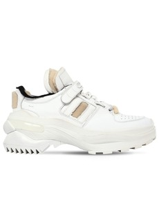Maison Margiela 70mm Retro Fit Leather Sneakers