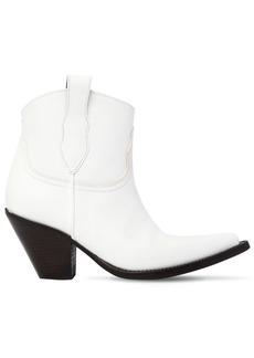 Maison Margiela 80mm Leather Ankle Cowboy Boots