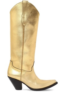 Maison Margiela 80mm Metallic Leather Cowboy Boots
