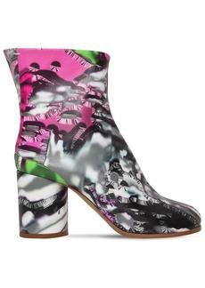 Maison Margiela 80mm Tabi Lamingo Print Leather Boots