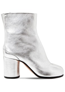 Maison Margiela 80mm Tabi Metallic Leather Ankle Boots