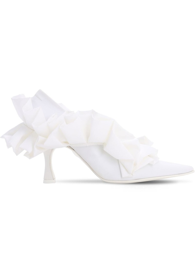 Maison Margiela 85mm Ruffled Satin Pumps