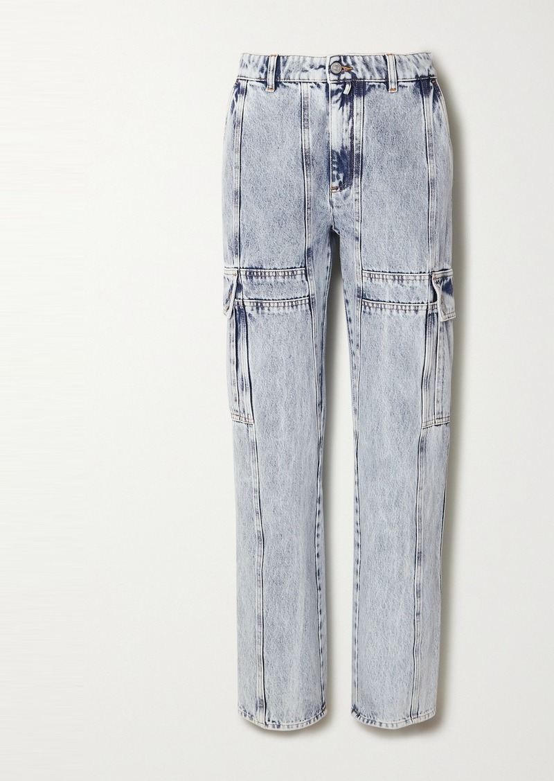 Maison Margiela Acid-wash High-rise Straight-leg Jeans
