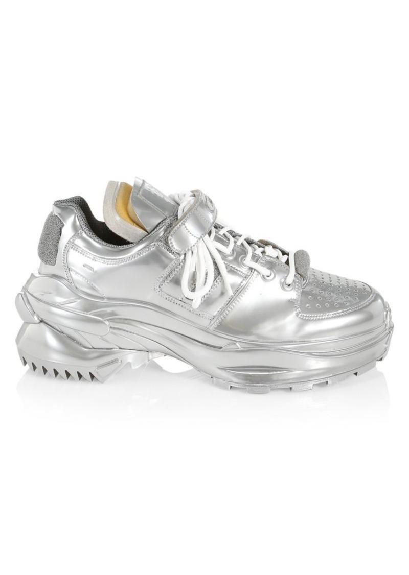 Maison Margiela Artisanal Low Top Metallic Sneakers