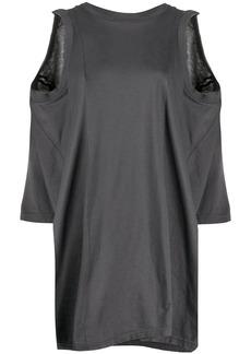Maison Margiela asymmetric cold-shoulder top