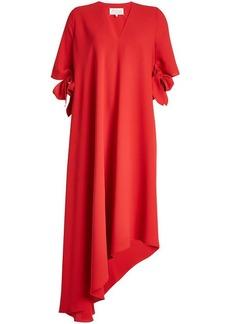 Maison Margiela Asymmetric Crepe Dress with Bow Sleeves