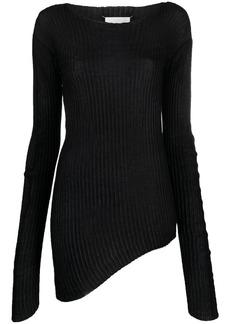 Maison Margiela asymmetric four-stitch jumper