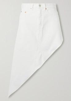 Maison Margiela Asymmetric Frayed Denim Skirt