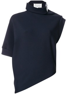 Maison Margiela asymmetric funnel-neck top