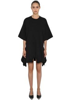 Maison Margiela Asymmetric Hem Cotton Jersey Mini Dress