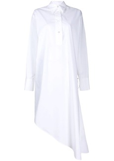 Maison Margiela asymmetric hem shirt dress