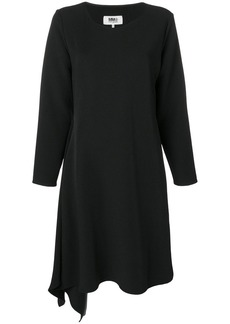 Maison Margiela asymmetric long-sleeve midi dress