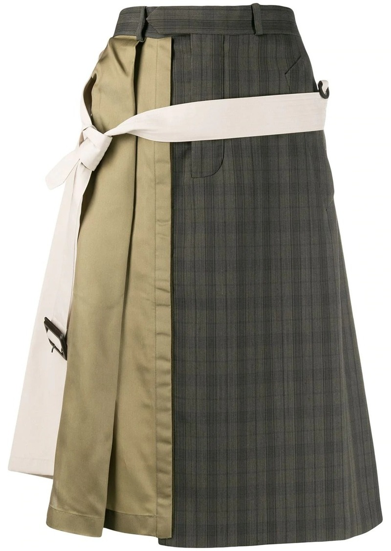Maison Margiela asymmetric patchwork midi skirt