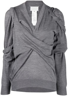 Maison Margiela asymmetric pinched pullover