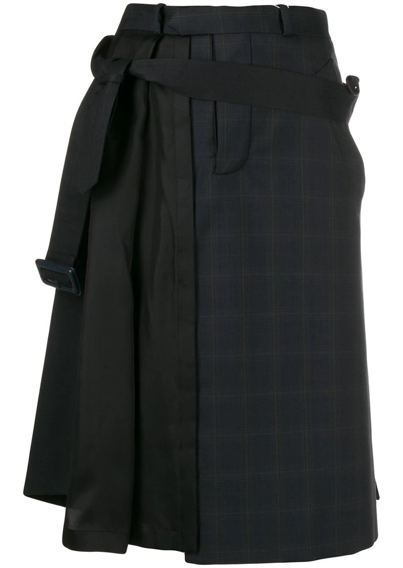 Maison Margiela asymmetric pleat detail skirt