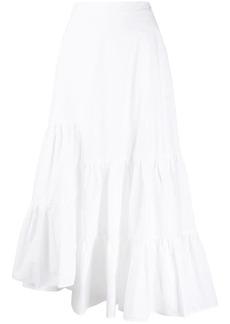 Maison Margiela asymmetric ruffle tiered skirt
