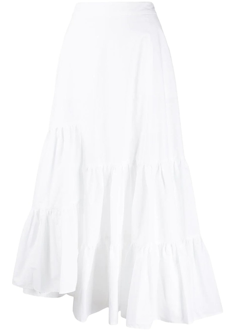 Maison Margiela asymmetric ruffle tiered skirt