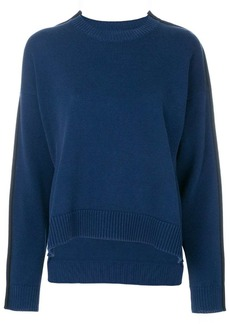 Maison Margiela asymmetric side-stripe jumper