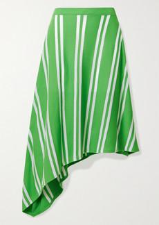 Maison Margiela Asymmetric Striped Stretch-knit Skirt