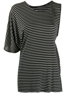 Maison Margiela asymmetric striped T-shirt