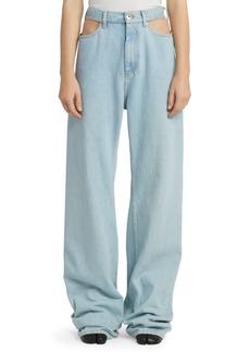 Maison Margiela Baggy Cut-Out Jeans