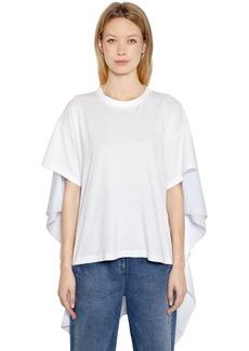 Maison Margiela Basic Jersey & Striped Poplin T-shirt